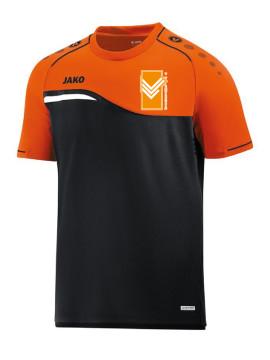 T-shirt Competition 2.0 zwart-fluo oranje