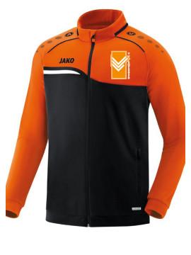 Polyestervest Competition 2.0 zwart-fluo oranje